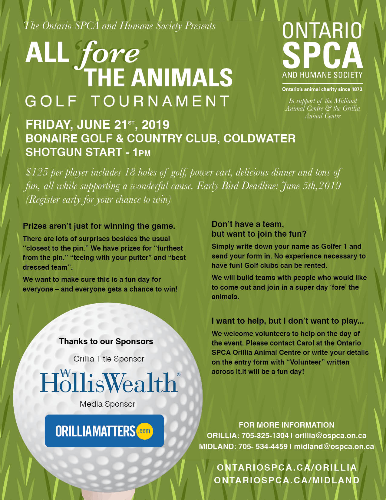 All Fore the Animals Golf Tournament 2019