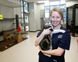 Hayley with Cat at Markham Centre