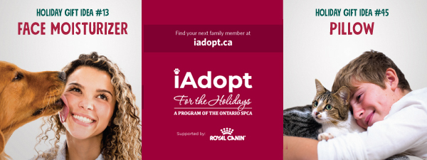 Iadopt for the holidays 2018 newshound banner