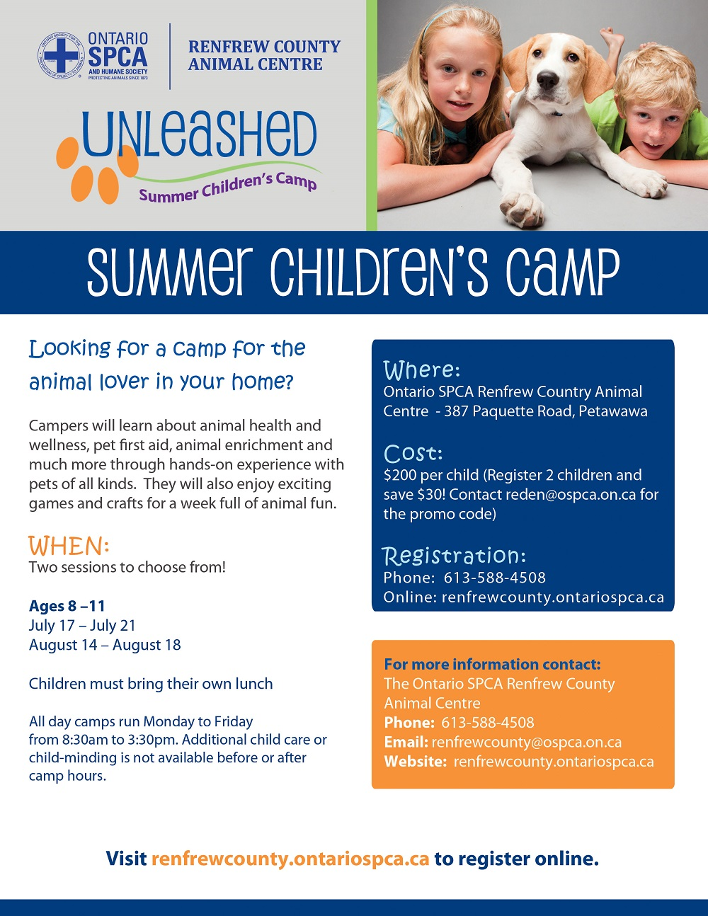 2017 Renfrew Unleashed Summer Camp