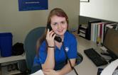 Volunteer on phone